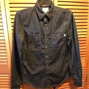 Timberlands Blue Denim Slim Fit Shirt